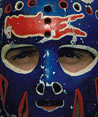 Chico's original painted Islanders mask