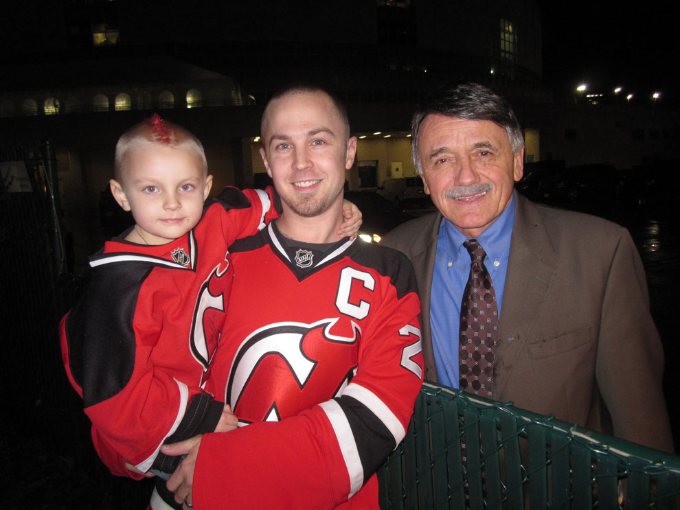 01/01/11 - Talking hockey with Chico after the game.